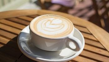 Purple Haze latte at Fourteen Eighteen Coffeehouse