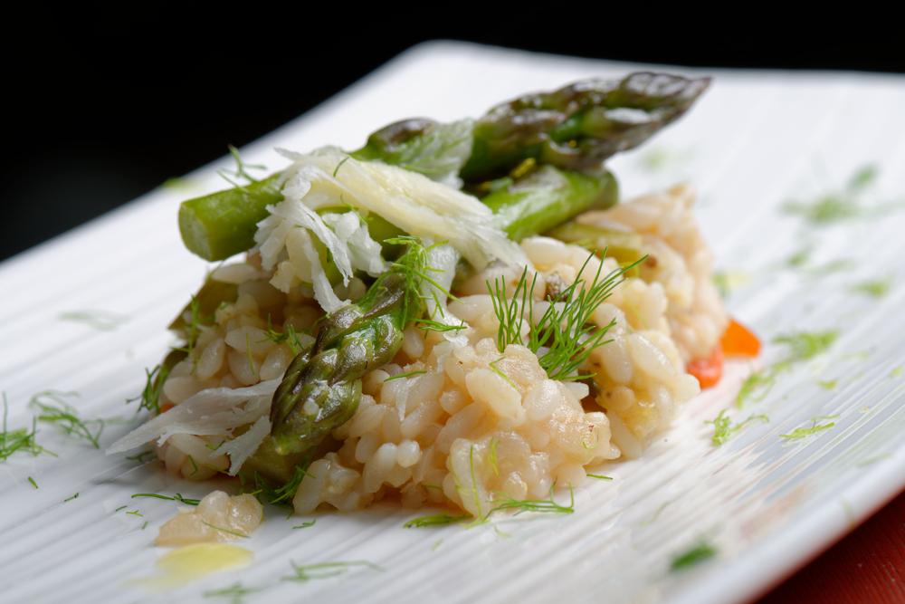 Recipe Saffron Risotto Spring Vegetables