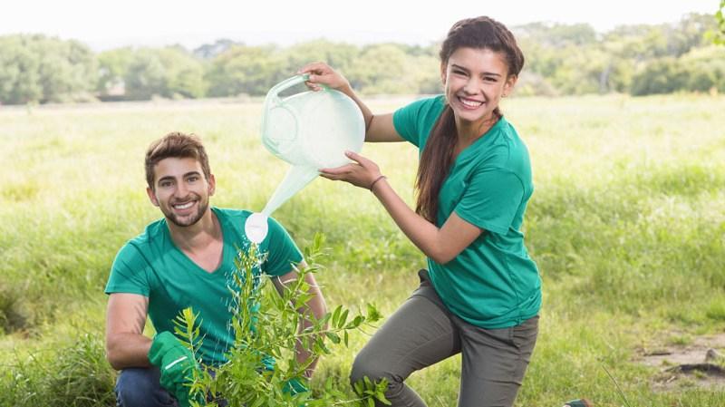 Teens Gardening