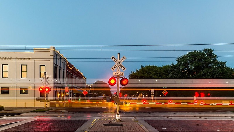DART Train Downtown Plano David Downs