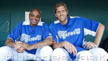 dirk nowitzki heroes celebrity baseball frisco