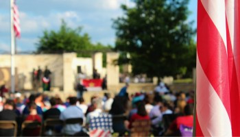 Memorial Day Plano Sunset at Memorial Park Summer ceremony honoring fallen soldiers
