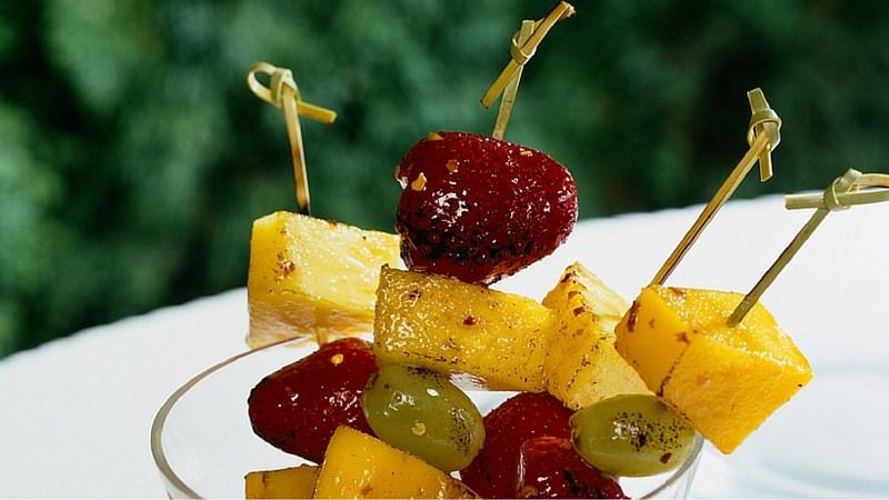 recipe grilled fruit skewer kabob