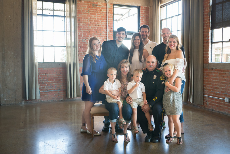 Dallas Police Officer Family Portrait