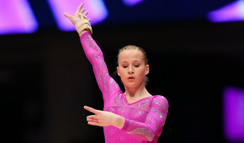 Madison Kocian of Plano World Olympics Gymnastics Academy