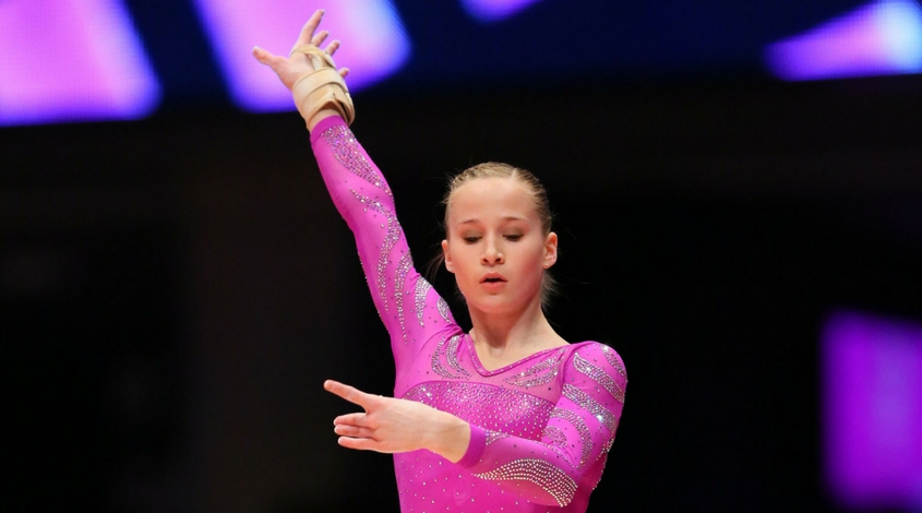 Madison Kocian of Plano World Olympics Gymnastics Academy