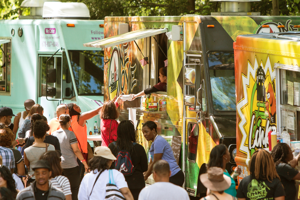 food truck, downtown plano
