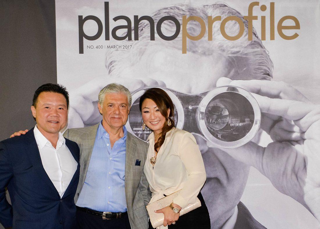Sam Moon, Fehmi Karahan, Sandra Moon, Plano Profile maazine cover party, Legacy West