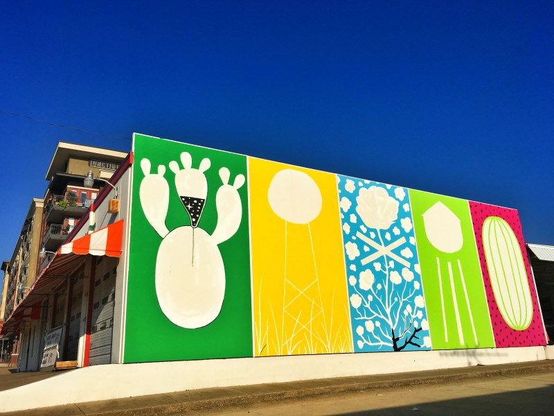 downtown plano mural will heron