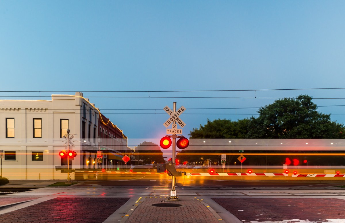 DART train, downtown Plano, David Downs