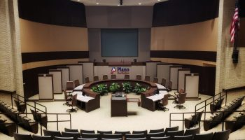 City of Plano city council chambers