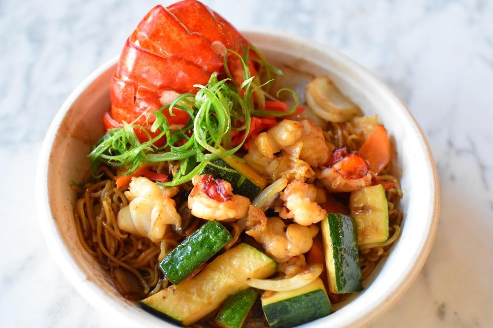 lobster stir-fry yakisoba noodle