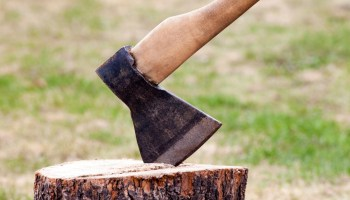 ax chopping wood