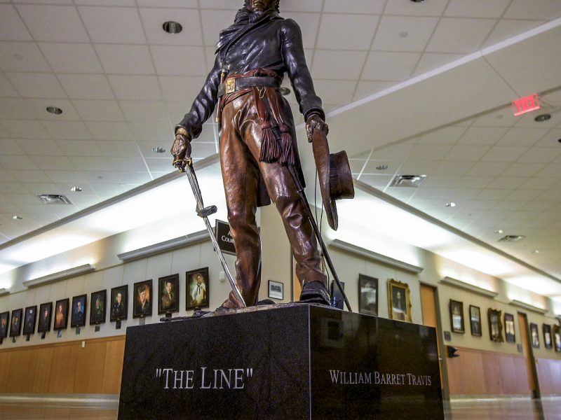 the line statue collin county courthouse 1