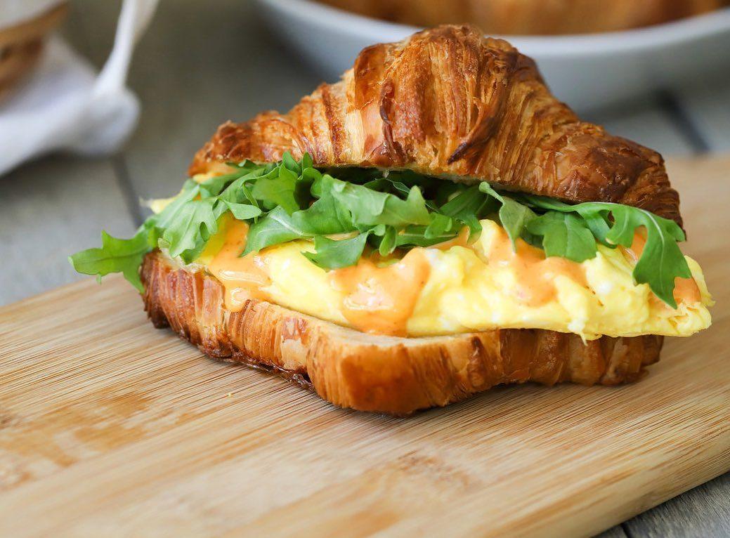 egg saint croissant sandwich daily grinds frisco