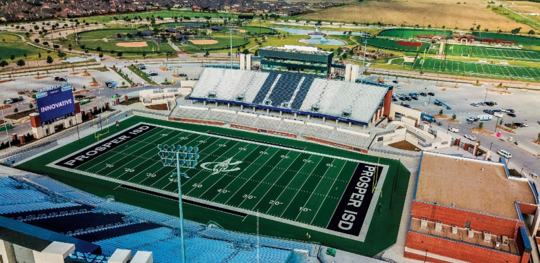 Prosper stadium COllin County population growth