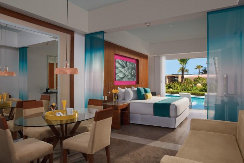 A junior suite at Krystal Grand Los Cabos