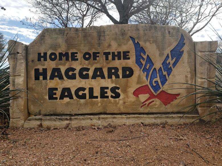 Haggard Middle School Sign