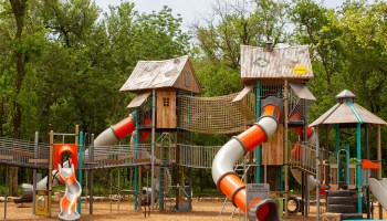 Spirit Park in Allen is treehouse themed and is one of the best playgrounds around for bigger kids. Image by Alyssa Vincent.
