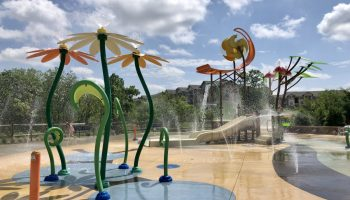 This Little Elm Splash Pad is the most adorable sight!