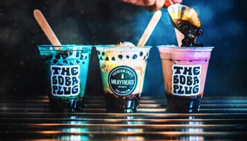 Boba tea floats from the Milky Treats / The Boba Plug collab. Aka, the best crossover episode ever. Photo courtesy of The Boba Plug on Facebook