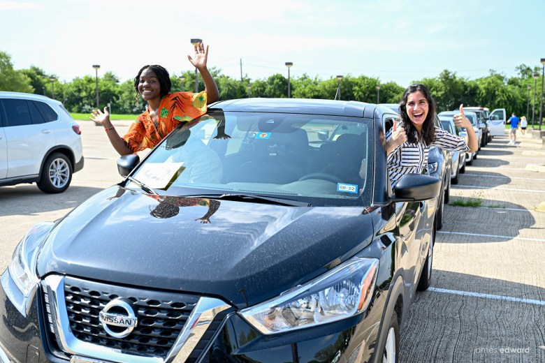 some of the 80+ teens who participated in the plano mayor's summer internship program were celebrated during a drive-by parade.