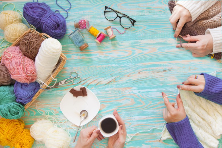 learning to knit is a great thing to do this weekend to expand your hobbies! | shutterstock