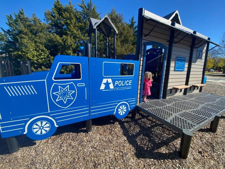first responder playground firestation playground police green park allen