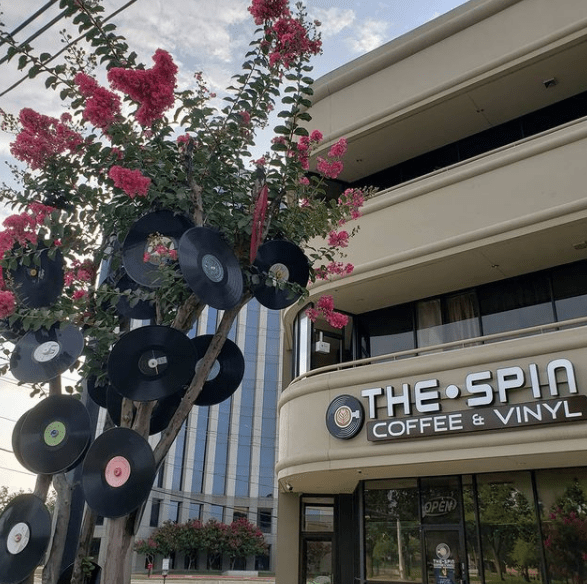 the spin is a record store that adds in another wonderful element - coffee.   via @spincoffeevinyl on instagram