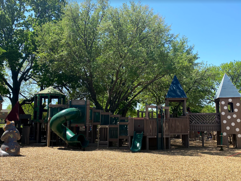 kid country playground in coppell, best playgrounds, andrew brown jr. community park