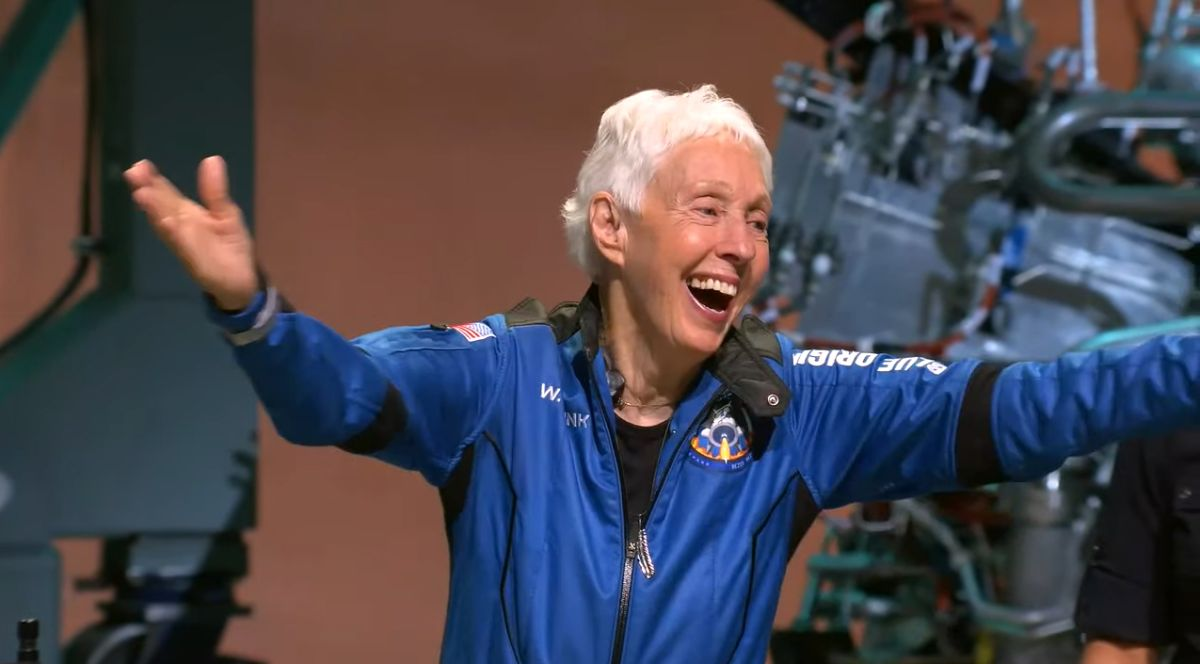 wally funk, who boarded the blue origin flight on july 20, was honored with a parade in her native grapevine, tx   image: blue origin