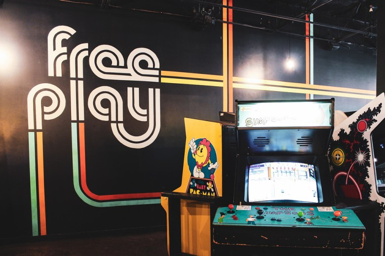 craft beer and retro games at free play arcade in richardson
