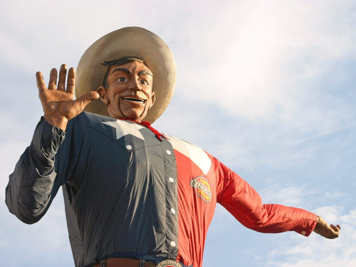 you can get a covid-19 vaccine at the texas fair, 2021, right behind big tex.