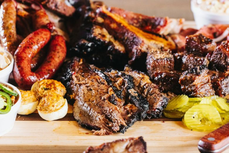 a glance at lockhart smokehouse's savory offerings