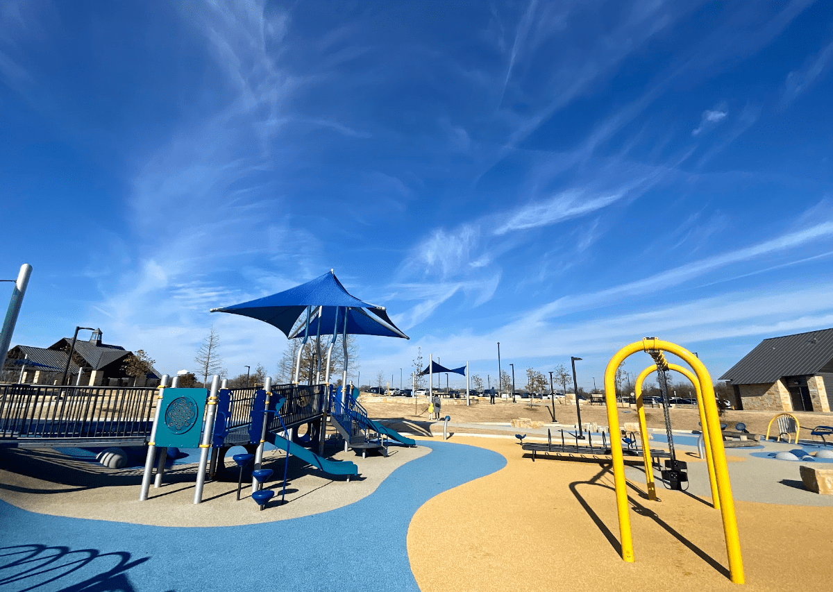 liberty playground at windhaven meadows park, plano, all-abilities playground