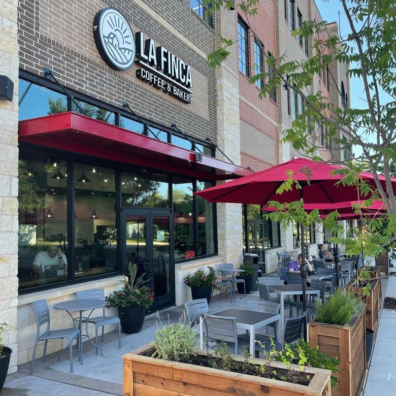 la finca coffee and bakery is one of the best patios in frisco. check out more great patios!