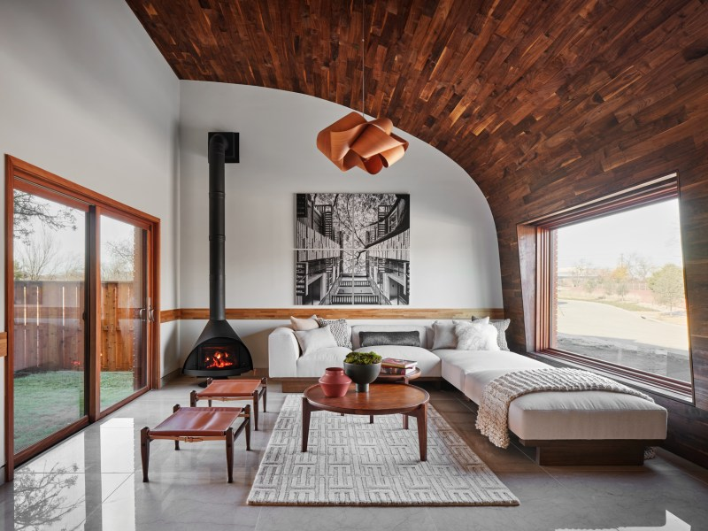 formal living space in a tapestry home.