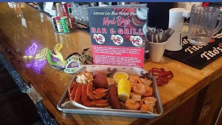 a platter from mudbugs bar and grill, a favorite cajun food spot in frisco!   courtesy of mudbugs' facebook page