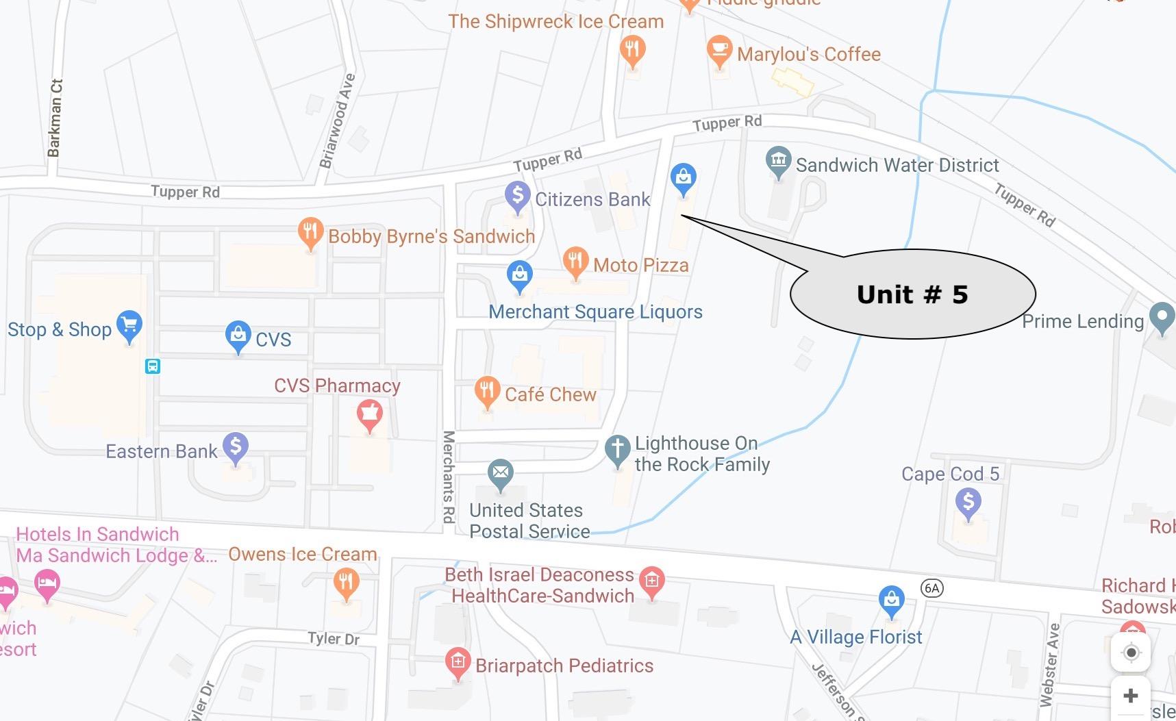 69 Tupper Road #5 Sandwich Map