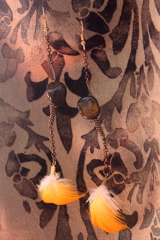 feather earrings wire wrap