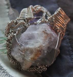 wire wrap pendant complete