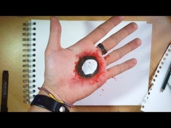 Video : How to Draw a Hole... In Your Hand