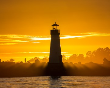 Orange Walton Lighthouse Sunset