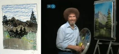 Bob Ross and Sharpies : Saturday Morning Cartoons