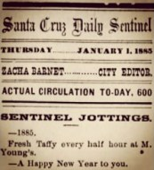 Santa Cruz Sentinel Happy New Years