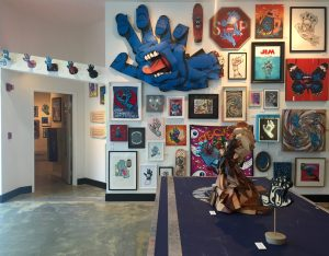 The exhibit features artwork Jim Phillips and 200 other contemporary artistsfrom around the world.