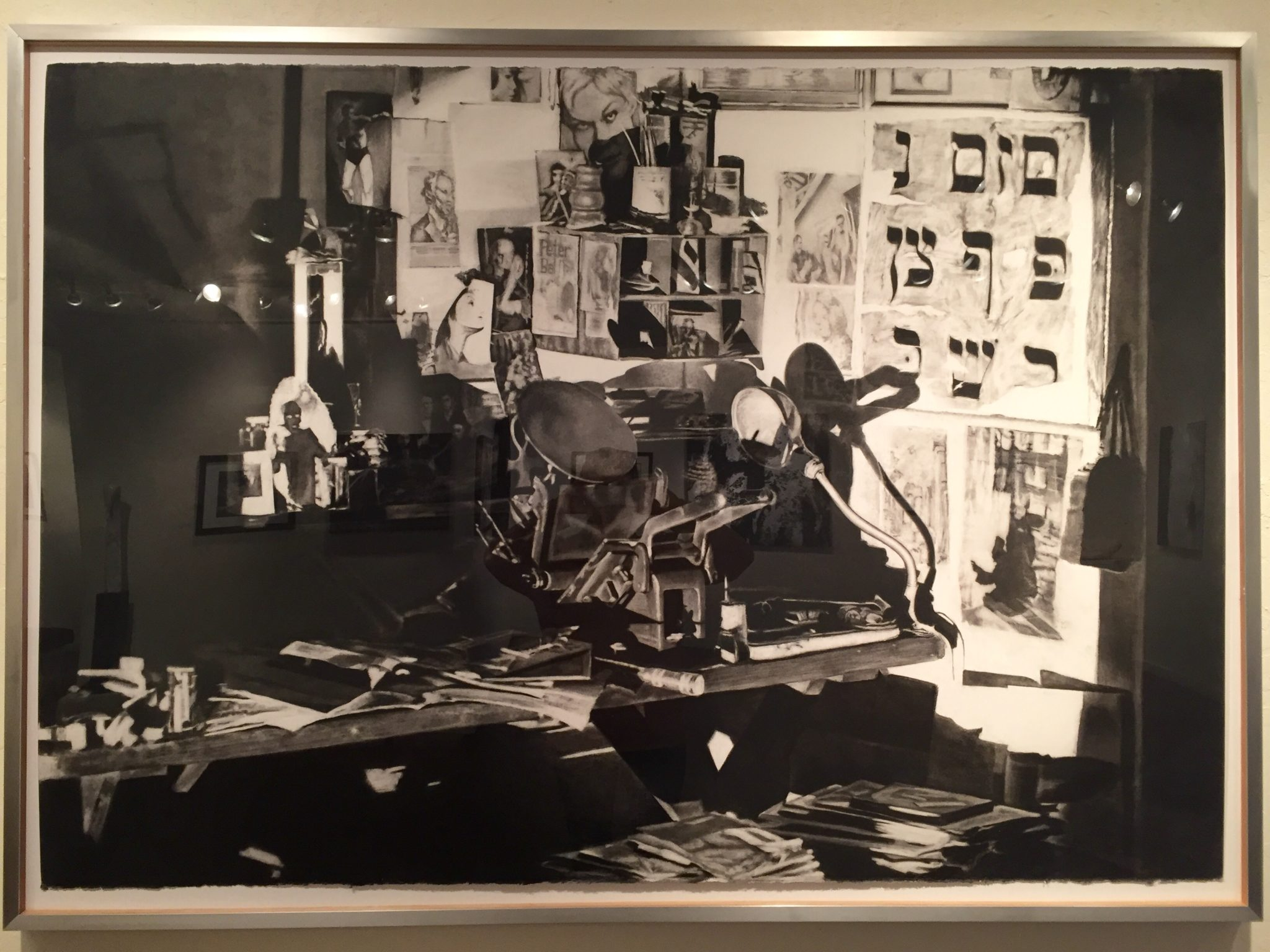 """Berman Studio"" by James Allen. Charcoal on Paper. First Place."