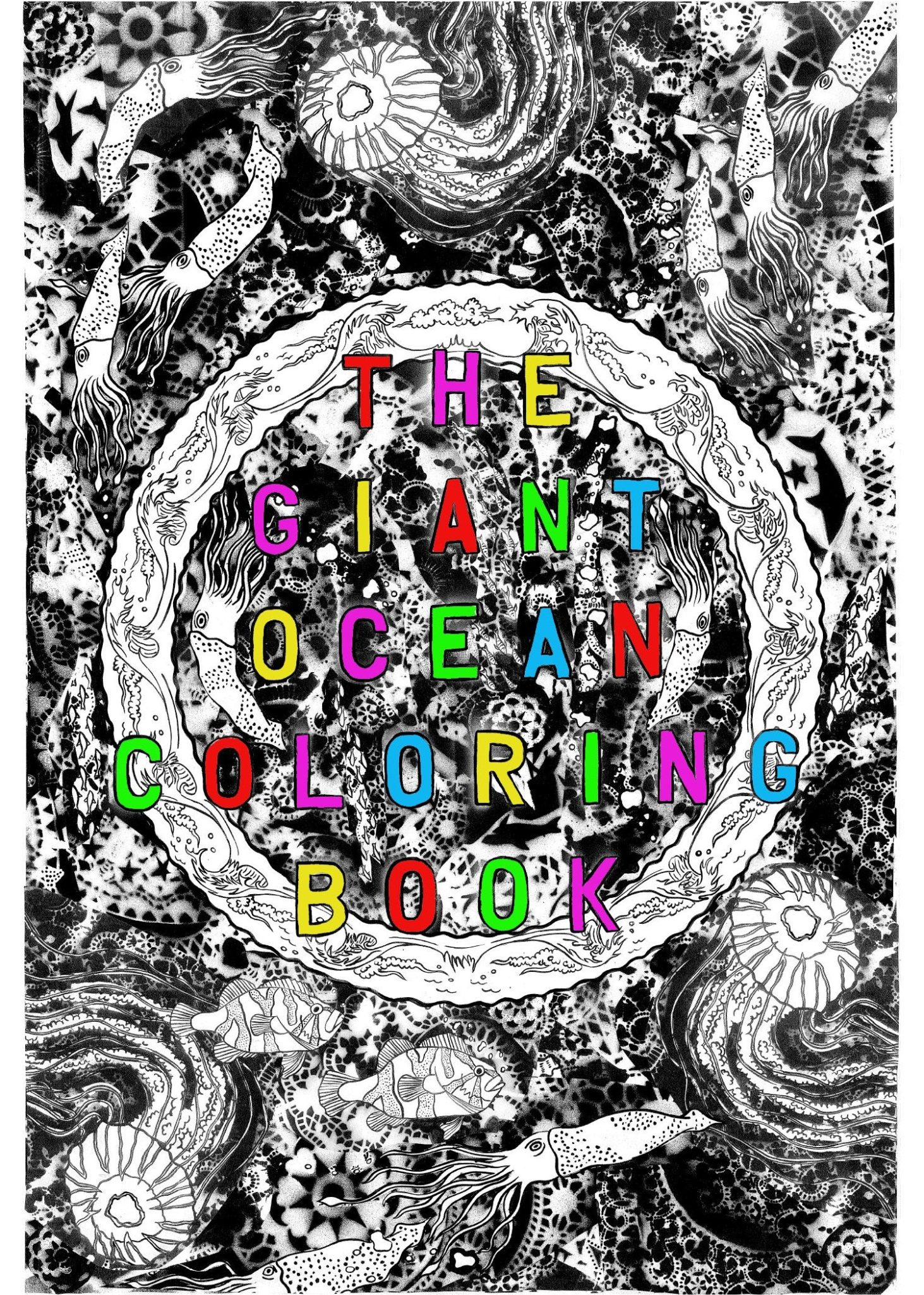 The Giant Ocean Coloring Book, on display at the Seymour Marine Discovery Center.
