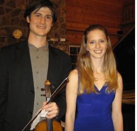 Nigel Armstrong with pianist, Elizabeth Dorman