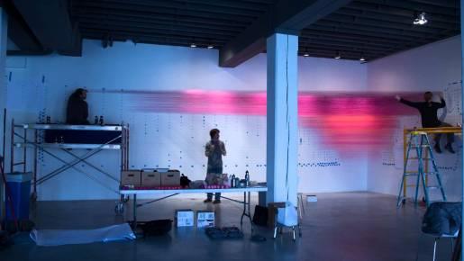 Video: String Art Installation Time Lapse, Anne Lindberg